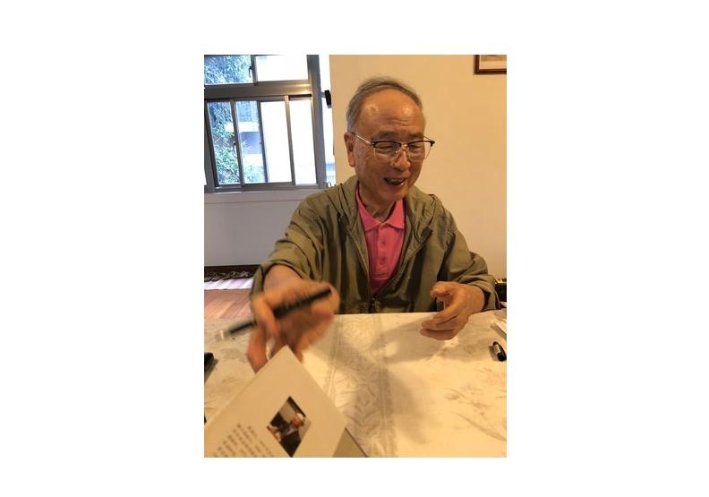 2018年9月,陳鼓應在台大宿舍與作者久別重逢歡敘。(周天瑋提供)