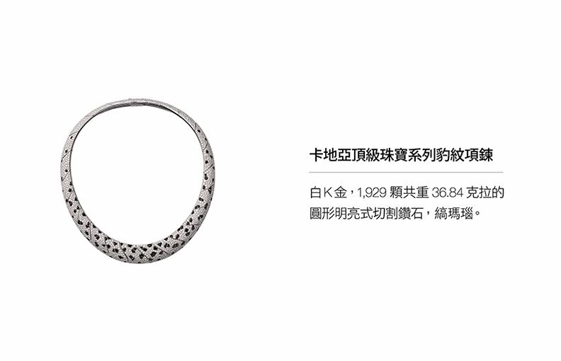 卡地亞頂級珠寶系列豹紋項鍊