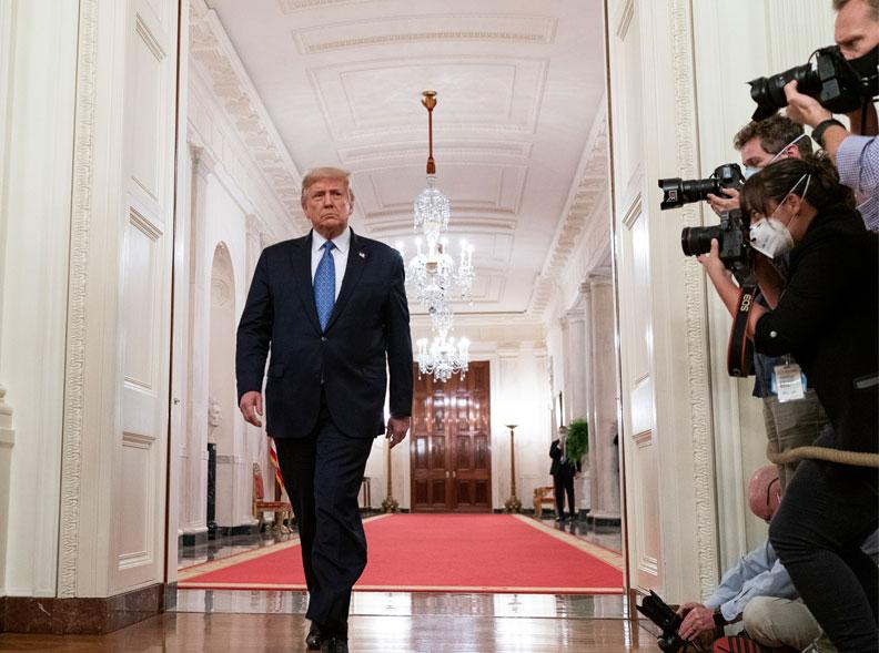 美國總統川普,圖片來自白宮Flickr