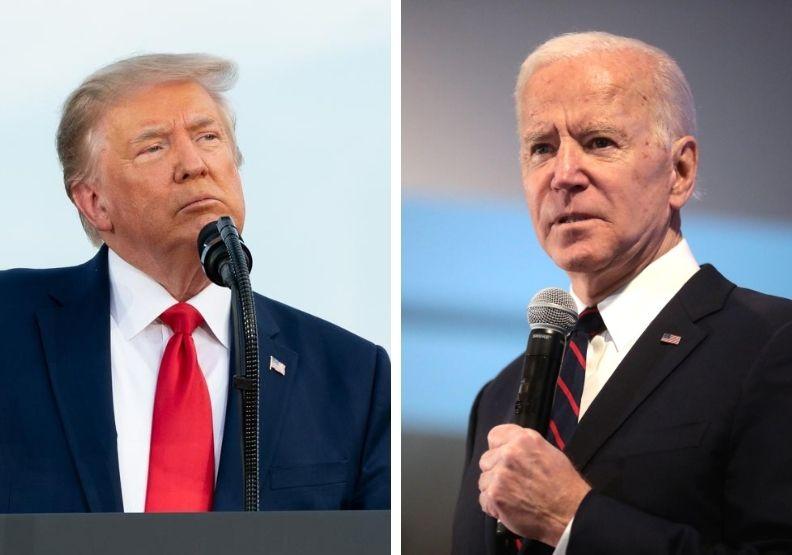 美國2020總統大選兩位候選人:川普與拜登。圖片來源: White House Flickr
