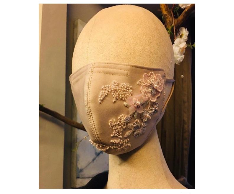 印尼奢華口罩,作者提供