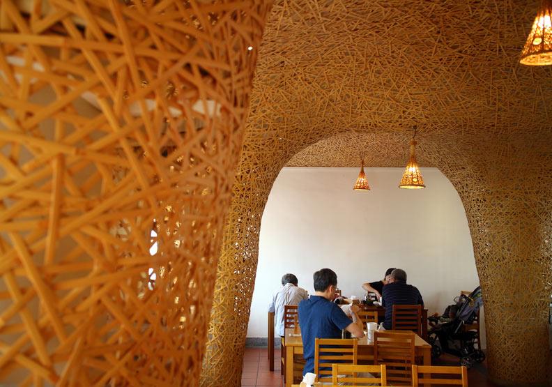 近年成為熱門打卡點的「竹青庭人文空間餐廳」。