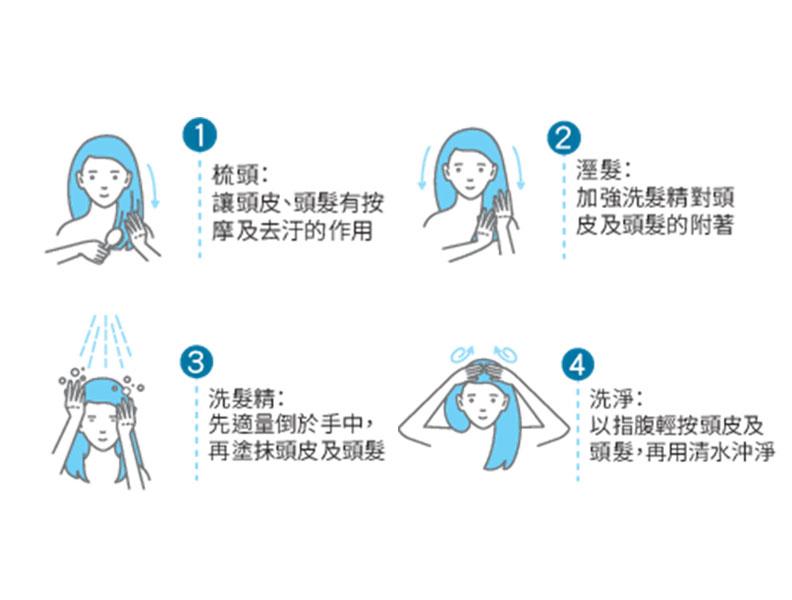 呵護秀髮從洗頭的步驟開始!