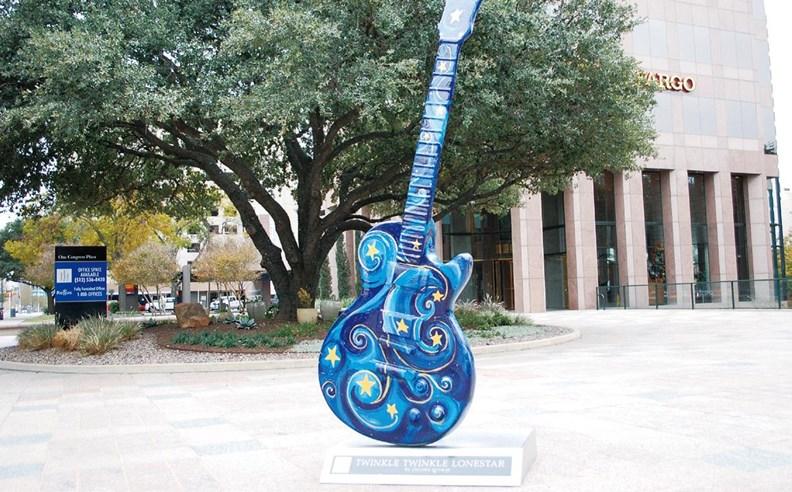 奧斯汀市中心隨處可見的音樂產業紀念品。
