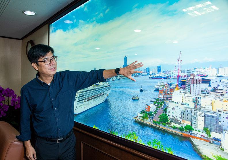 陳其邁期盼引入5G+AIoT產業,替高雄帶來「跨代」的產業轉型效果。