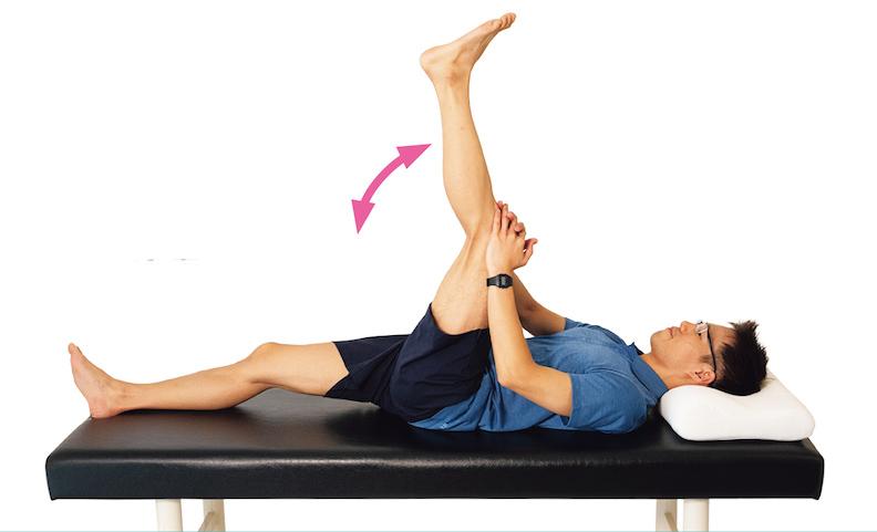 重複彎曲及伸展膝蓋。