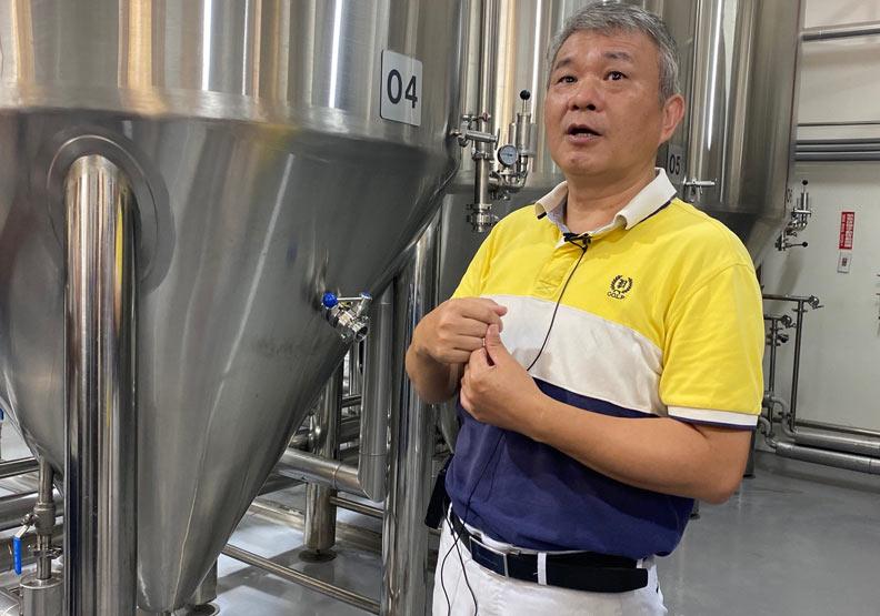 纖碧爾啤酒負責人曾貽連。