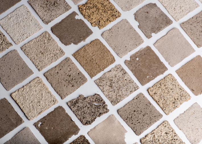 根據混合物比例變化,顏色和紋理也不同,甚至能營造顆粒感。圖片取自Pablo Dorigo官網