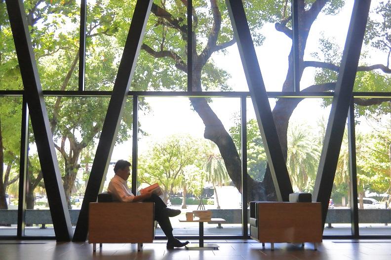 猶如森林中的圖書館,屏東縣立圖書館總館華麗變身,成為下半年詢問度最高的文化場域。
