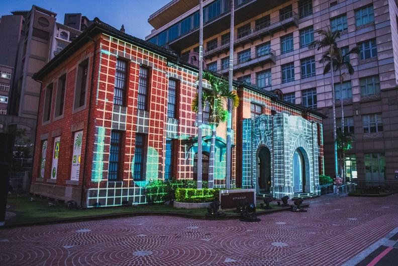 新竹美術館的光雕秀。 圖片來源:新竹市政府