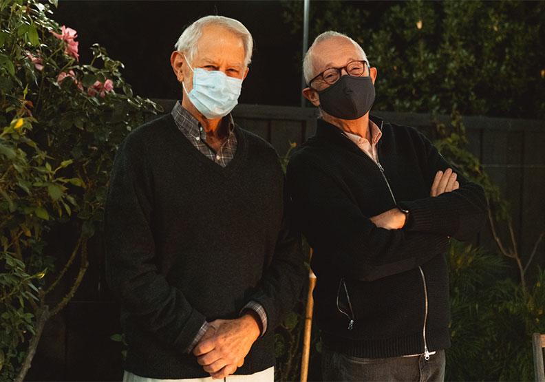 本校Robert Wilson教授(左)與Paul Milgrom(右)教授榮獲2020諾貝爾經濟學獎,圖片來自Andrew Brodhead