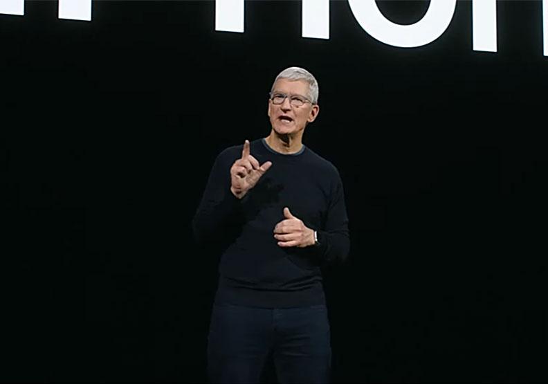 Apple庫克決定電動車新方向。圖片來自蘋果官方