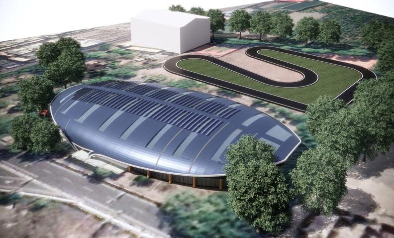 滑輪溜冰場完工預想圖。屏東縣政府提供
