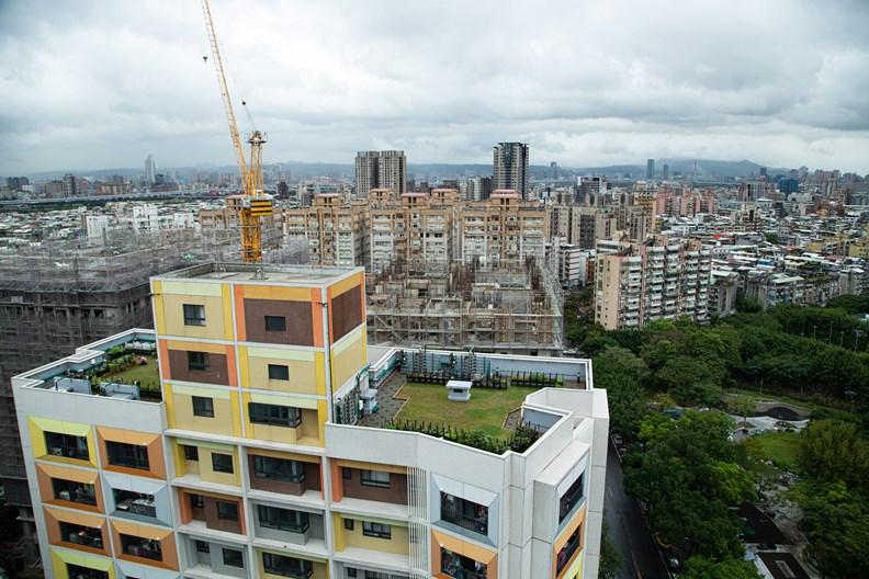 萬華社宅的高樓層視野極佳。