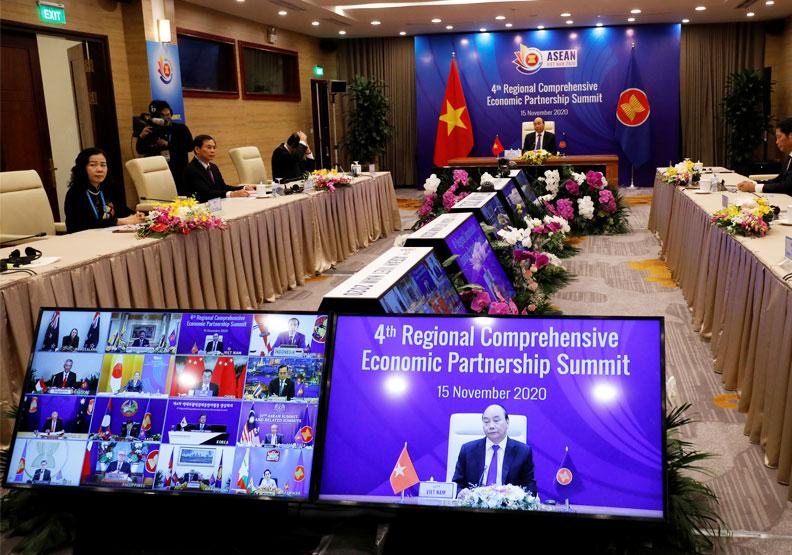 東協15國簽署RCEP,占我貿易總額59%,也是台灣重要經貿夥伴。圖片來自達志影像