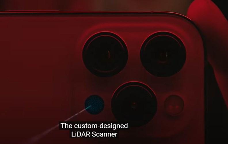 iPhone 12配備的「光學雷達掃描儀」,被期待帶動立體影像應用風潮。(圖片來源: Apple官網)