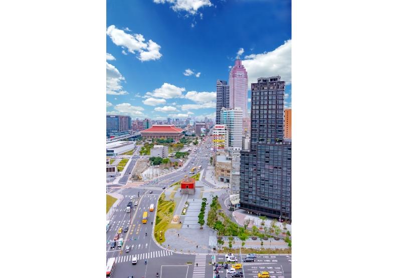 「北門廣場」為西區門戶計畫樞紐創造國門意象。