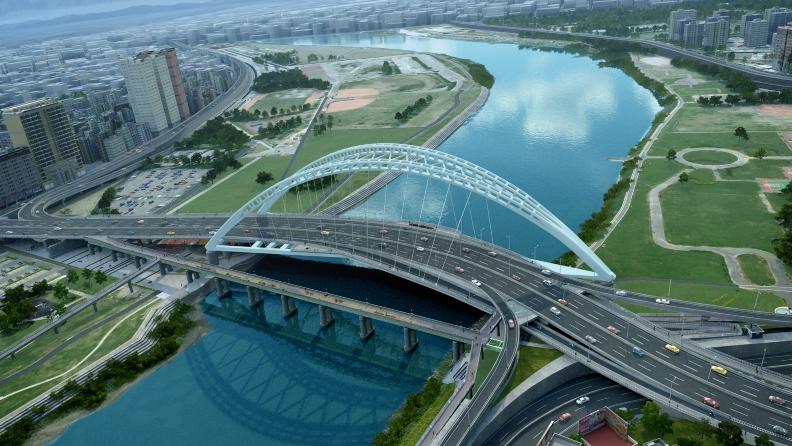 中正橋改建工程完工後模擬圖。