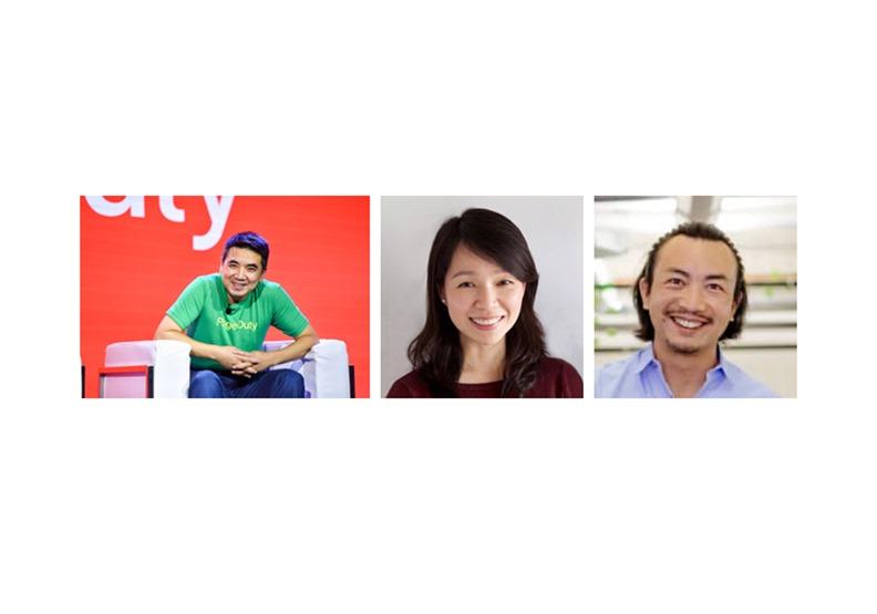 左至右分別為:Zoom創辦人袁征、Nextdish創辦人Sherry Lei, Lime創辦人Brad Bao。圖片分別來自Zoom Twitter,、Sherry Lei個人臉書,Crunchbase