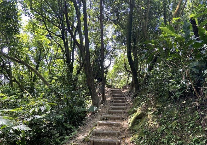 大棟山名列台灣小百岳之一,沿途步道景致優美。新北市政府觀光局提供
