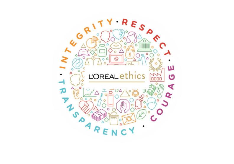 萊雅企業倫理道德原則:誠信、尊重、勇氣、透明。圖片為作者提供
