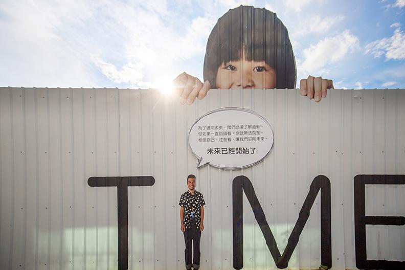 陳百棟邀請日本攝影師近藤悟合作,策畫了「TIME未來進行式-時光串流藝術計畫」。