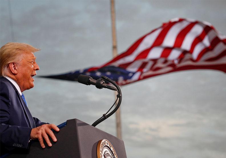 川普的領導性格與執政生涯也有幾分類似薛西弗斯。圖片來自達志影像
