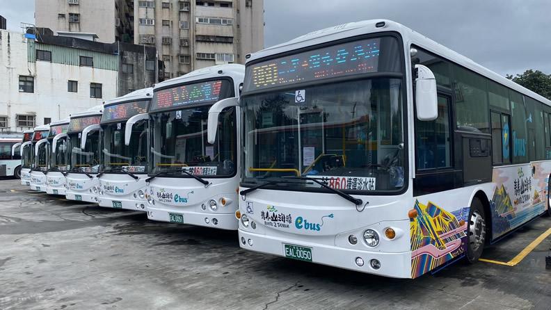 電動大客車加入青春山海線營運。(圖片來源:新北市政府交通局)