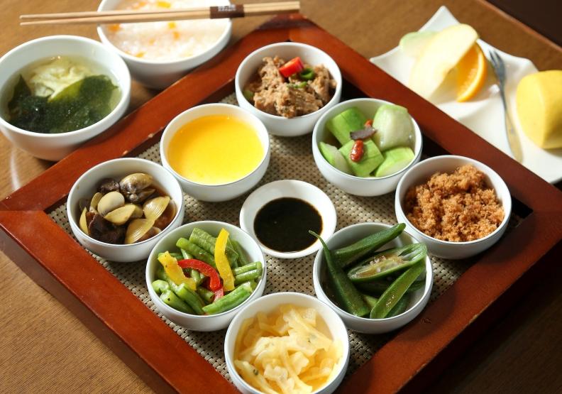 九宮格早餐使用在地食材,讓人回味無窮。