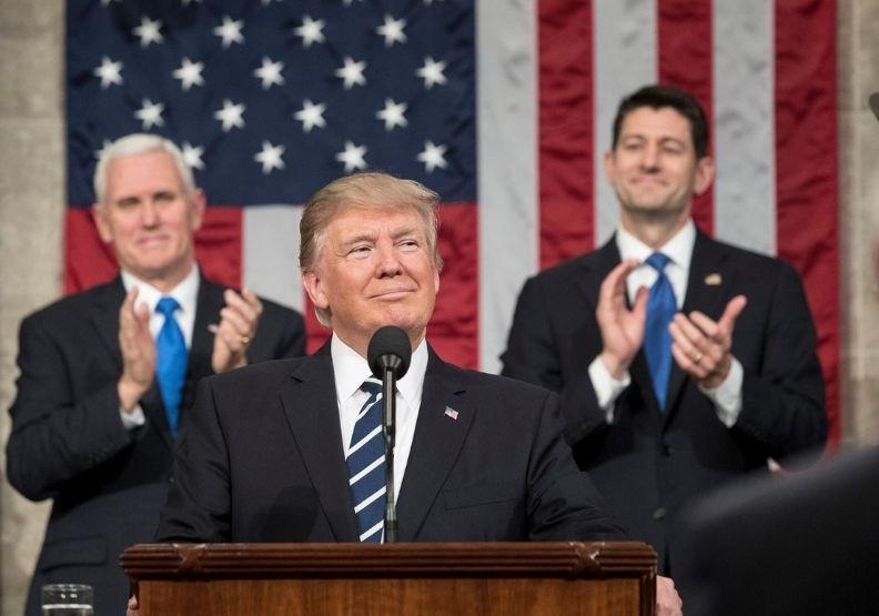 即將離開白宮的總統川普。圖片來自川普臉書