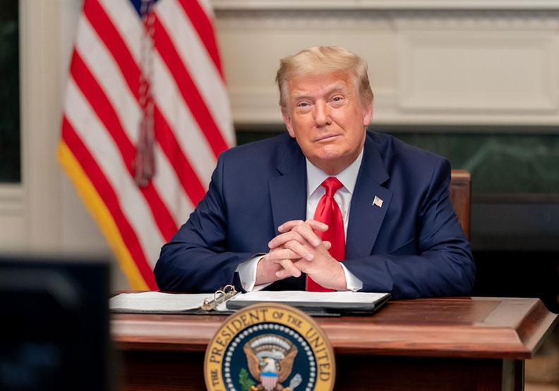 川普退群,代表霸權老大不想受到約束。圖片來自Flickr by The White House