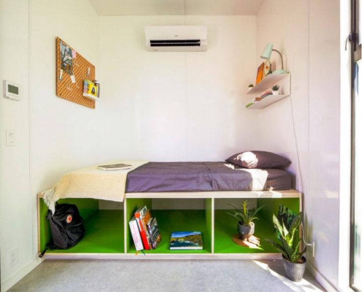 模組化房屋的其中一間房間。來源:Connect Homes