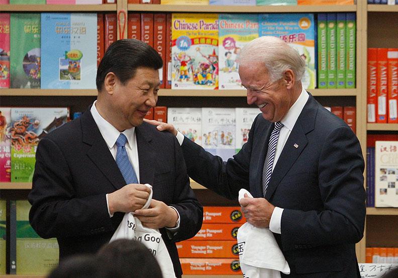 這次美中高層對話的弦外之音,像是習近平在對拜登說,美國厲害,但中國也不是弱者。圖片來自達志影像