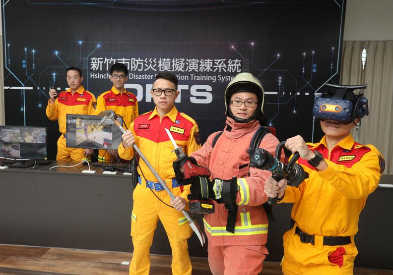 科技模擬火災現場!新竹市讓消防員多一次訓練、少一次遺憾
