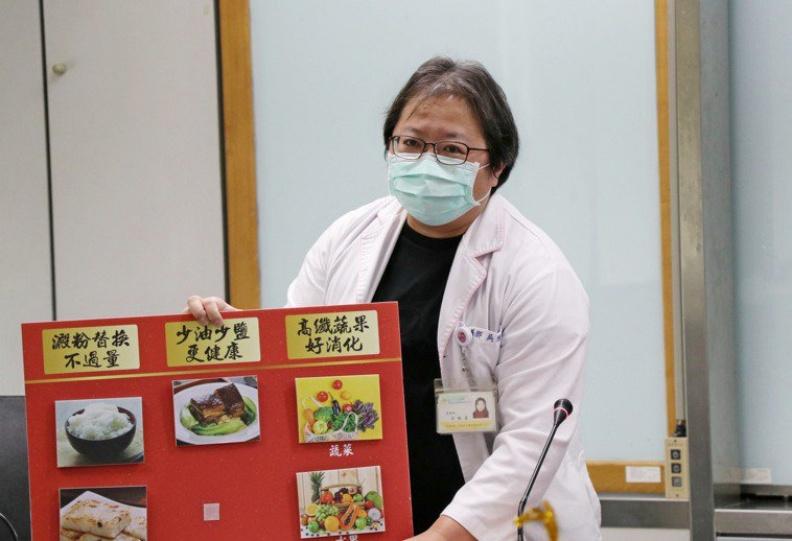 北市聯合醫院中興院區營養師吳雅惠以健康飲食概念,提醒民眾4大建議。北市衛生局提供