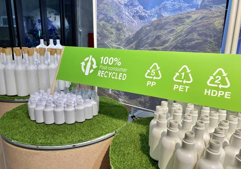 歐萊德在工業循環的產品包裝上,已與供應鏈夥伴研發可再生PCR塑料瓶器。圖片歐萊德提供。