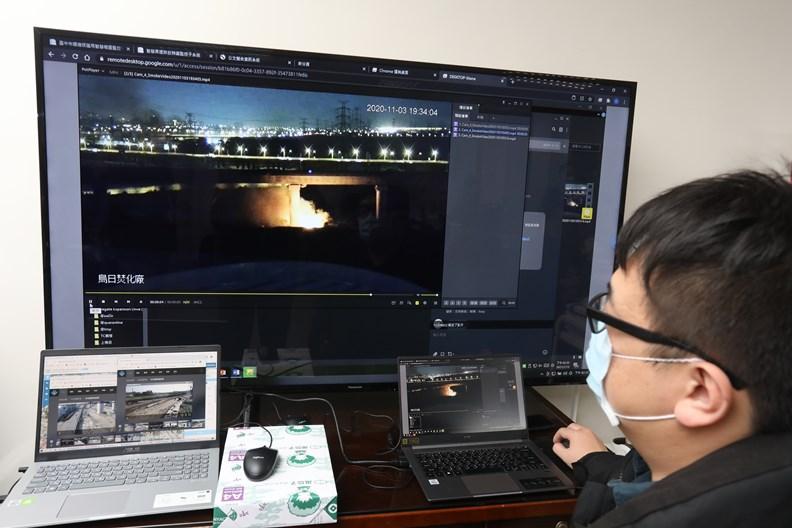 雲端影像辨識平台可即時監控污染排放狀況。