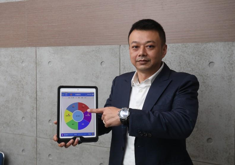景立科技有限公司總經理蔡政憲負責開發「智慧雲端動態救護系統」。