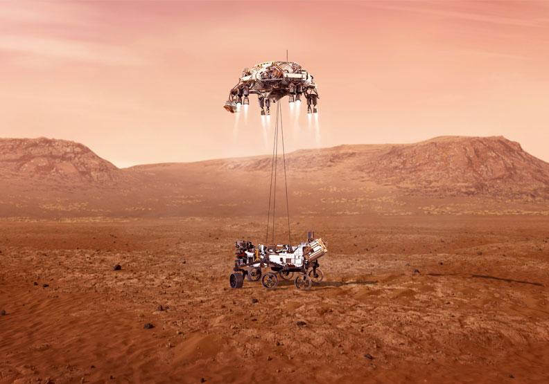 遠在地球的我們,能立即看見毅力號太空船登陸火星照片,就是因運用資訊理論。圖片來自NASA