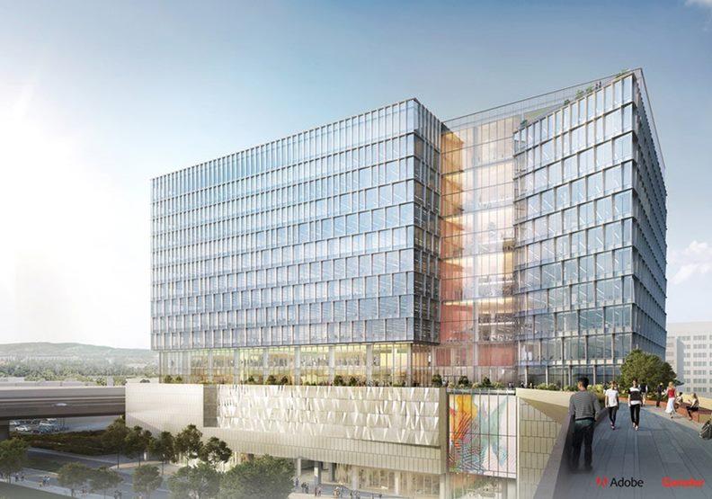 Adobe公司在聖荷西的新大樓。圖片來自Adobe Blog