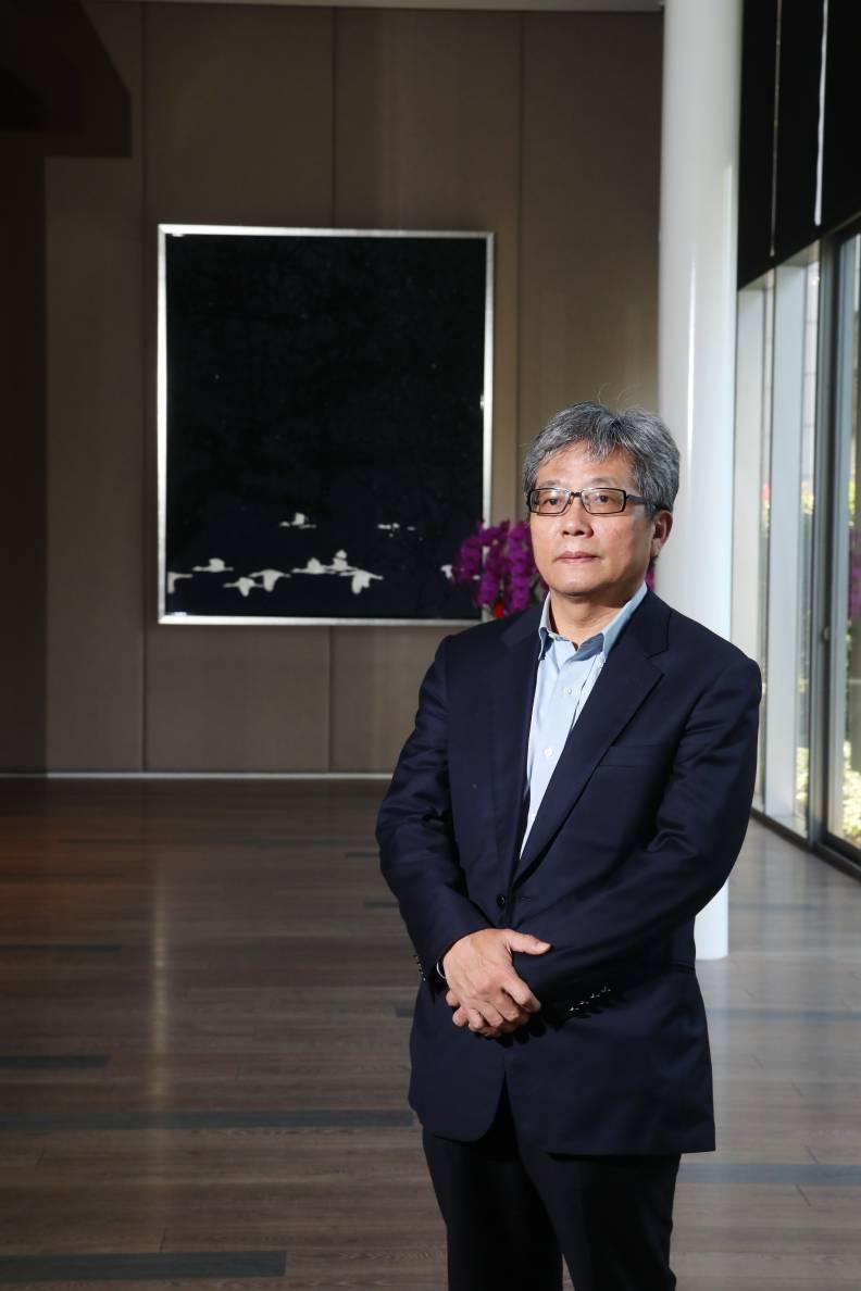 寶輝建設總經理蘇良智受客戶鼓舞放手、放心蓋好房,建案售價屢創台中新高記錄。蘇義傑攝