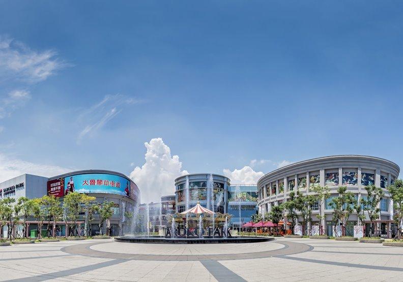 高雄大鲁閣草衙道購物中心,高雄捷運公司提供。