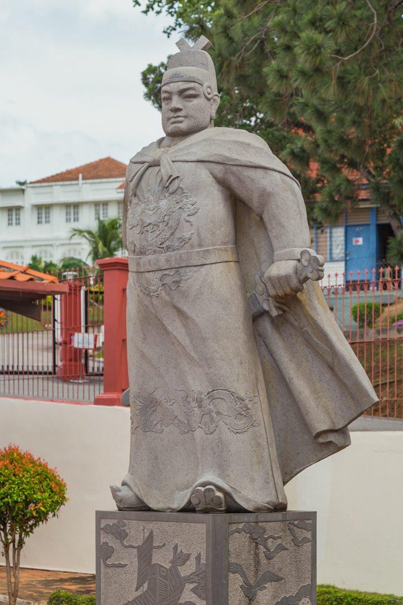 位於麻六甲市的鄭和像。圖片來自維基百科