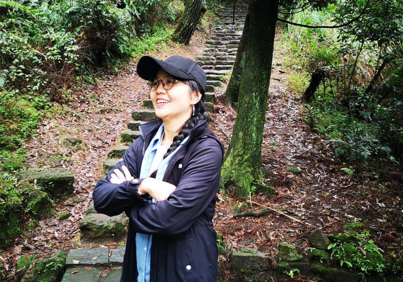 台灣聲景協會理事長范欽慧和陽管處合作推動聲音環境教育,提倡傾聽大自然,傾聽內在聲音。廖君雅攝