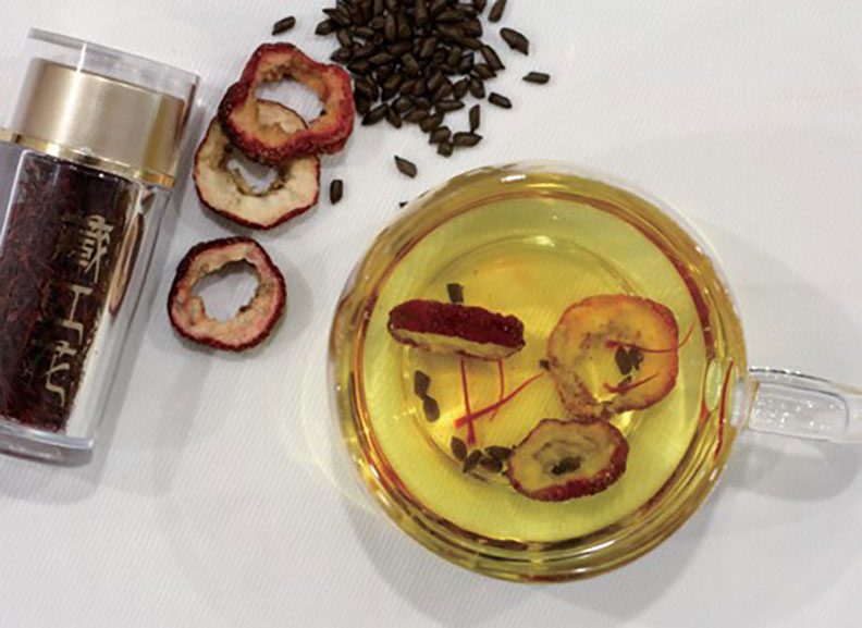 西紅花降脂茶。幸福文化出版提供