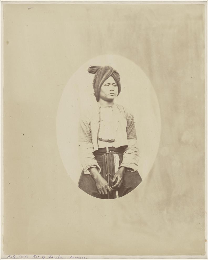 聖朱利安.愛德華茲,萬金庄的平埔男子。國家攝影文化中心提供