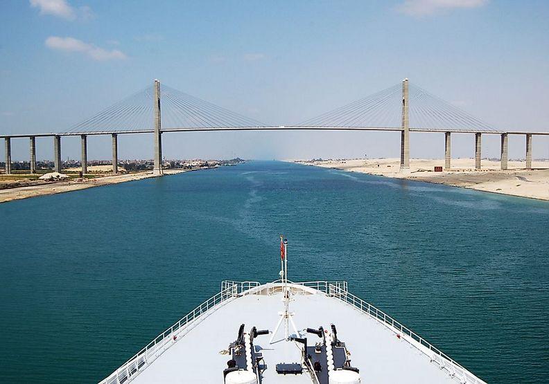 蘇伊士運河。worldatlas.com