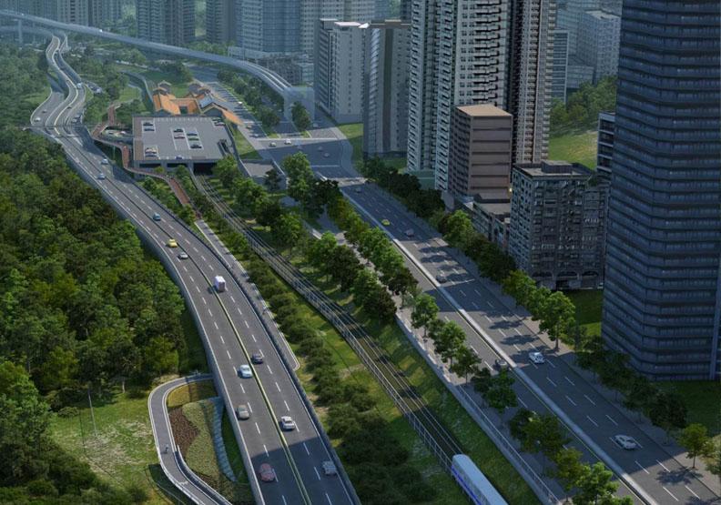 淡北道路興建必要性也受到質疑,取自新北市政府官網。