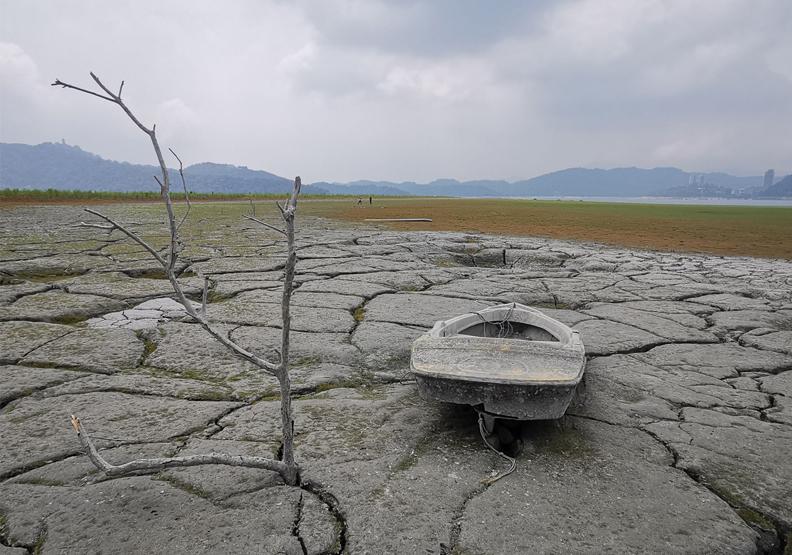 日月潭大草原旱象持續!再不下雨將停止發電,民生供水優先