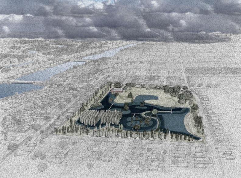 紐奧良盼打造與水共存、而非與水對抗的城市。圖片取自Waggonner & Ball